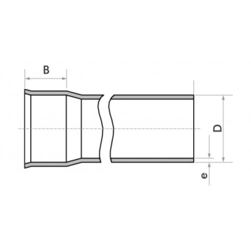 Tubo para Esgoto SN 50mm - Branco