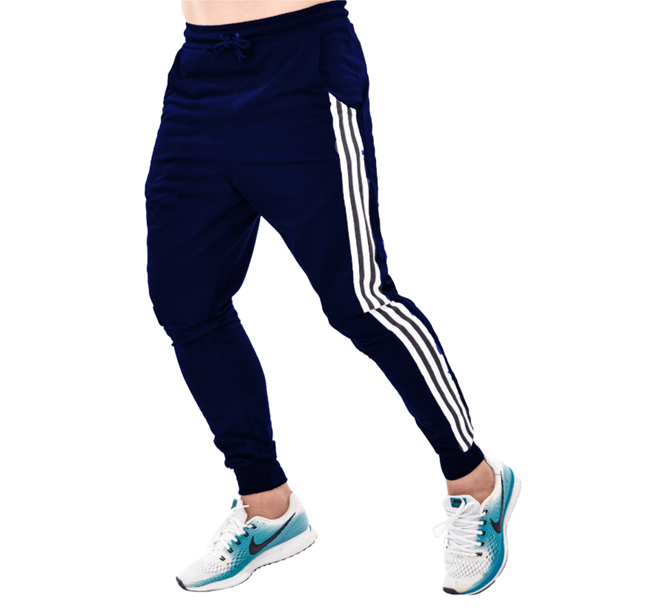 Kit 3 calças moletom skinny jogger listrada lateral moletinho Premium masculina