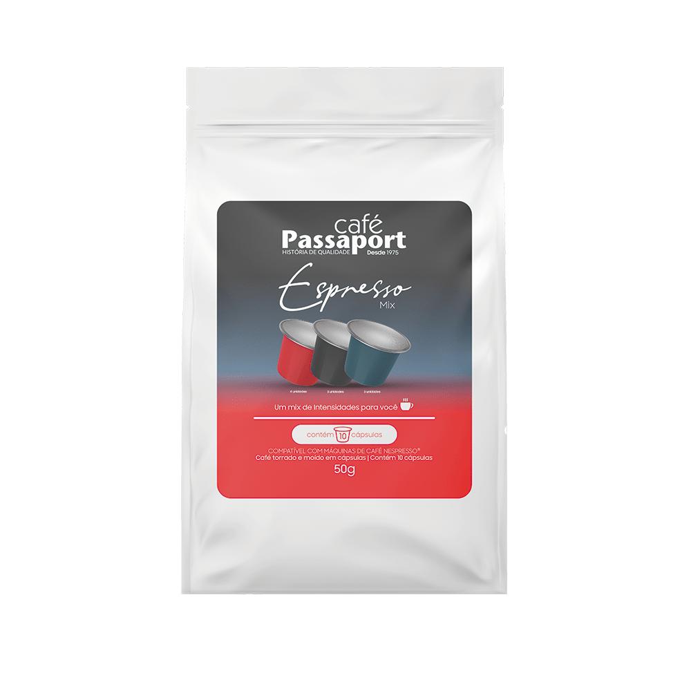 Café Passaport Cápsulas Espresso Mix 50gr