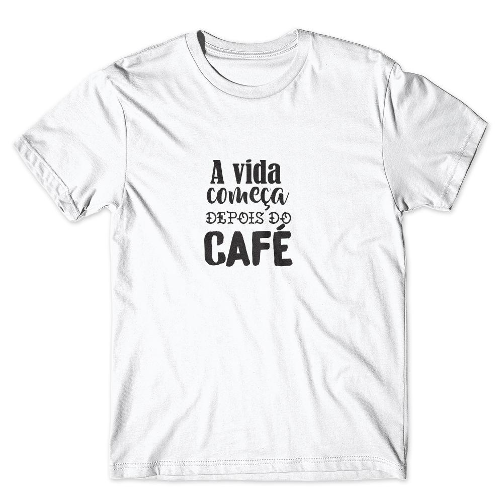Camiseta Café Passaport A vida Começa Depois do Café