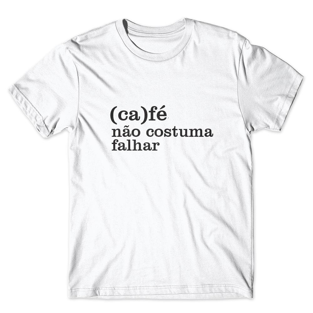Camiseta Café Passaport Café Não Costuma Falhar