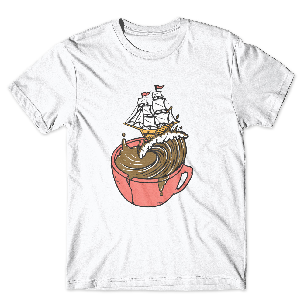Camiseta Café Passaport Navio no Café