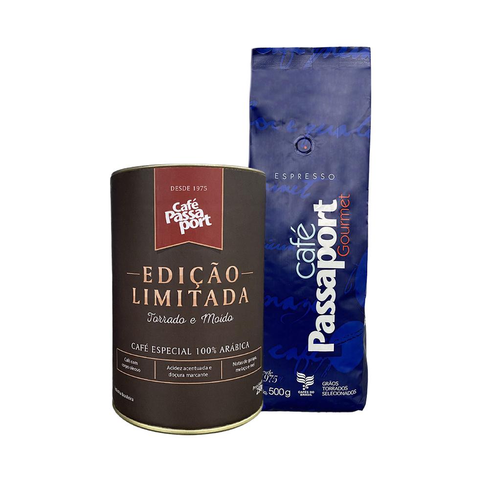 Kit Café Passaport Edição Limitada mais Passaport Gourmet