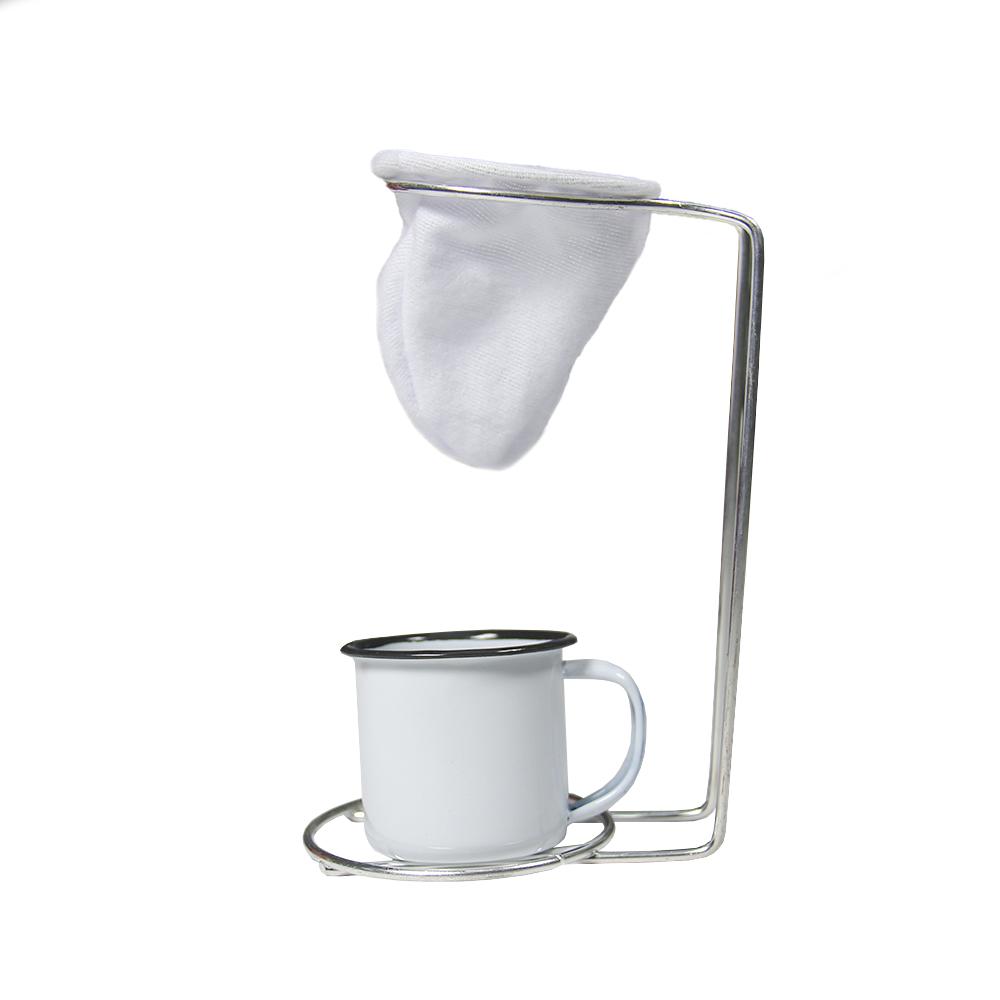 Kit Café Superior Moka com Mini coador artesanal branco