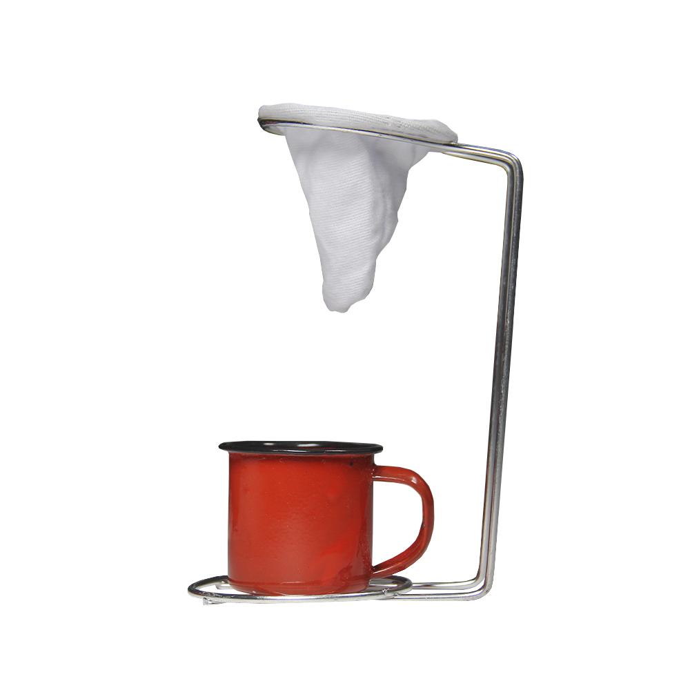 Kit Café Superior Moka com Mini coador artesanal vermelho