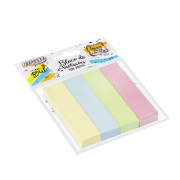 Bloco Adesivo BRW Smart Notes Colorido Pastel 19X76mm