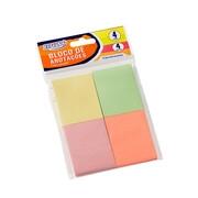 Bloco Adesivo BRW Smart Notes Colorido Pastel 38x51mm 4 Blocos