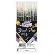 Brush Pen Brw Caneta Pincel c/ 6 Cores