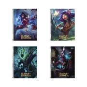Caderno Espiral League Of Legends Tilibra Universitário 10 Matérias