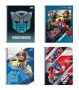 Caderno Espiral Transformers Filme Tilibra Universitário 10 Matérias