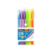 Caneta Cis Gel Trigel Pastel 0.8mm c/ 6 cores