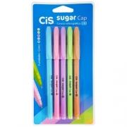 Caneta Cis Sugar Cap Pastel 1.0mm c/ 5 Cores