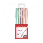 Caneta Faber Castell Trilux Style Colors Pastel 5 Cores