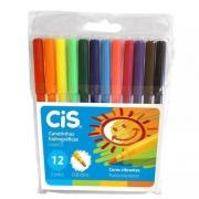 Canetinha Hidrográfica Cis Hidrocor Color 12 cores