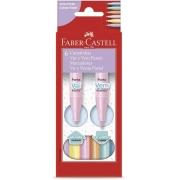 Canetinha Hidrográfica Faber Castell Vai e Vem Pastel 6 cores