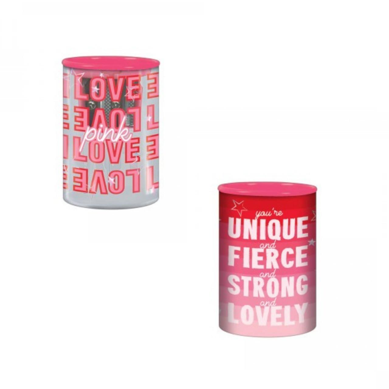 Apontador 2 Furos Com Depósito Love Pink Tilibra