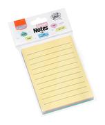 Bloco Adesivo BRW Smart Notes Line Pautado Colorido Pastel 76x102mm
