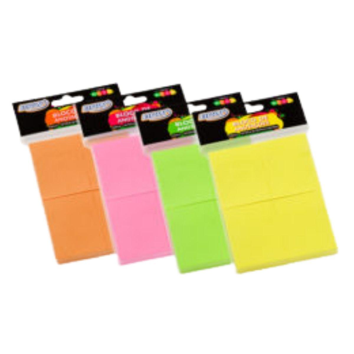 Bloco Adesivo BRW Smart Notes Neon 38x51mm 4 Blocos
