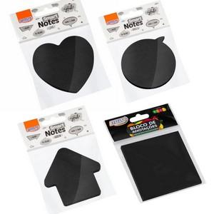Bloco Adesivo BRW Smart Notes Preto 70x70mm