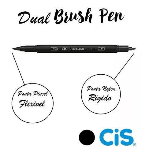 Brush Pen Cis Dual Brush Aquarelável Caneta Pincel