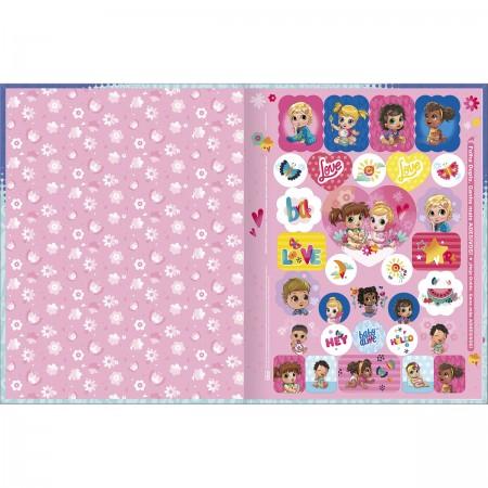 Caderno Brochura 1/4 Baby Alive Tilibra 80 Folhas