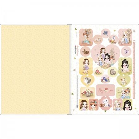 Caderno Brochura 1/4 Jolie Tilibra 80 Folhas