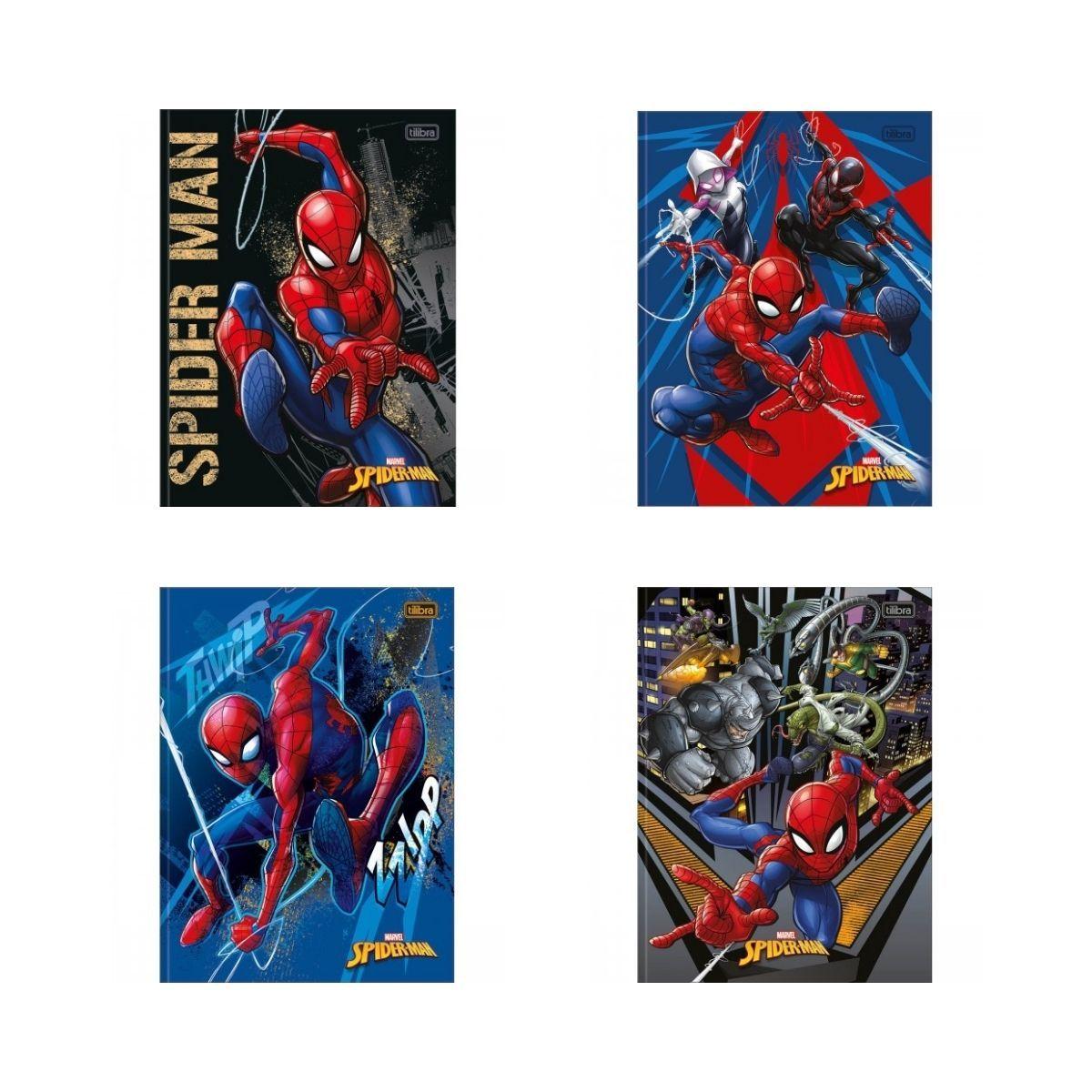 Caderno Brochura 1/4 Spider Man Tilibra 48 Folhas