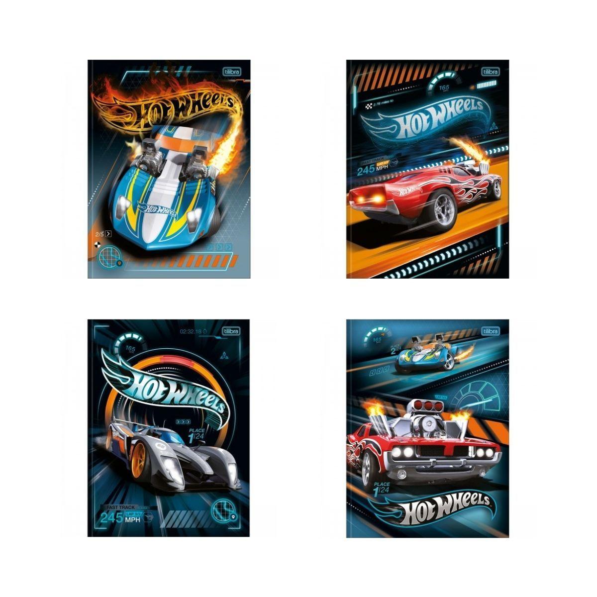 Caderno Brochura Hot Wheels Tilibra Universitário 48 Folhas