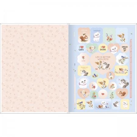 Caderno Brochura Jolie Pet Tilibra Universitário 80 Folhas