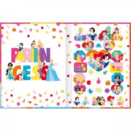 Caderno Brochura Princesas Tilibra Universitário 80 Folhas