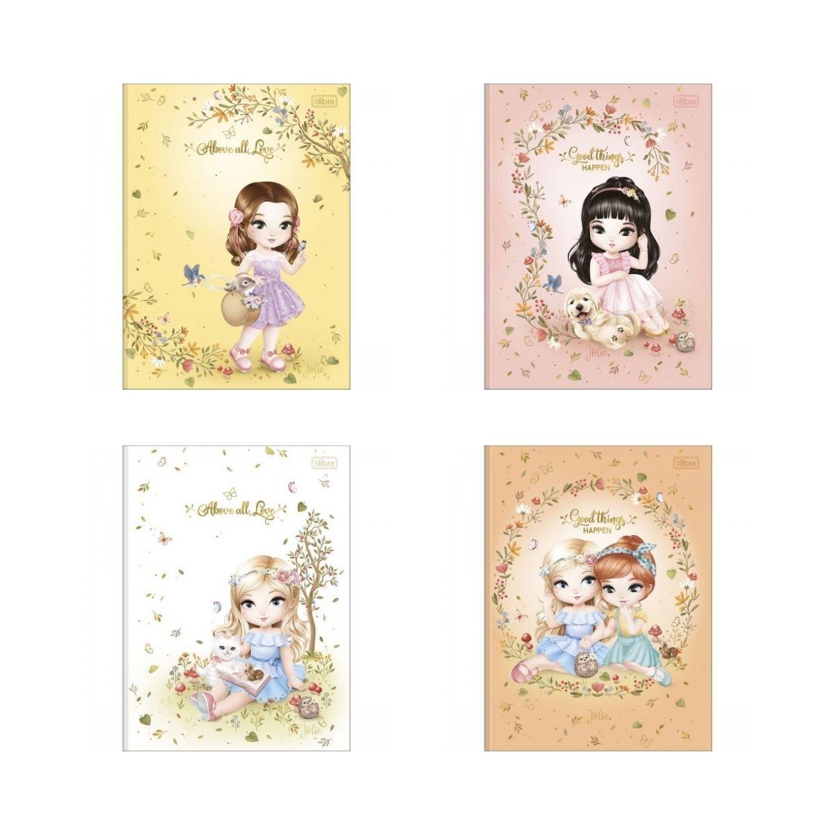 Caderno de Caligrafia Brochura Jolie Tilibra 40 Folhas