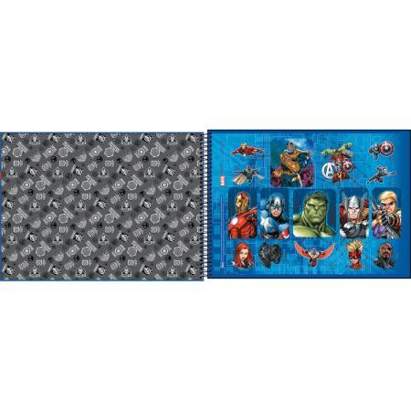 Caderno de Desenho Avengers Tilibra 80 Folhas