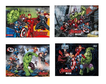 Caderno de Desenho Brochura Avengers Tilibra 80 Folhas