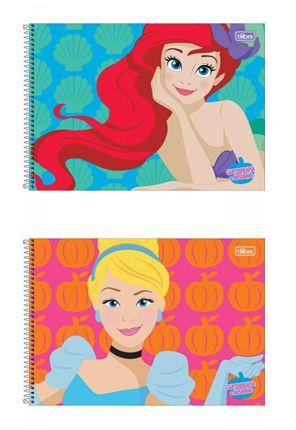Caderno de Desenho Princesas Tilibra 80 Folhas