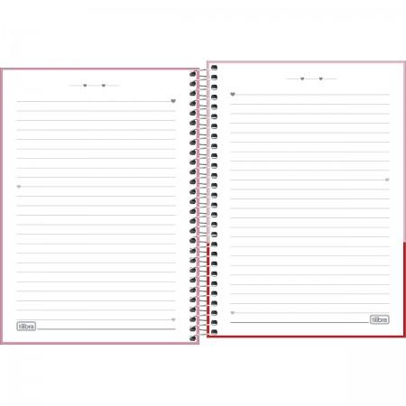 Caderno Espiral 1/4 Love Pink Tilibra 80 Folhas