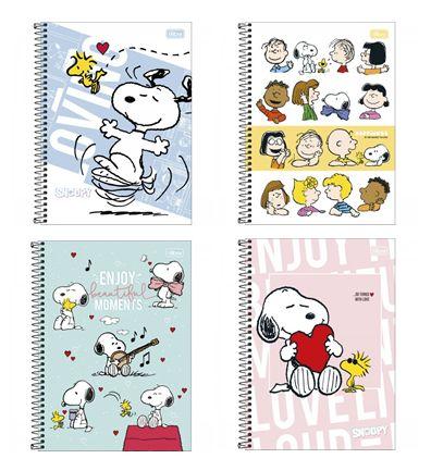 Caderno Espiral 1/4 Snoopy Tilibra 80 Folhas