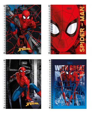 Caderno Espiral 1/4 Spider Man Tilibra 80 Folhas