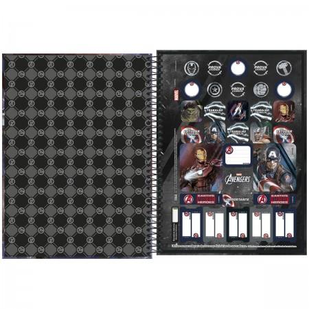 Caderno Espiral Avengers Tilibra Universitário 1 Matéria