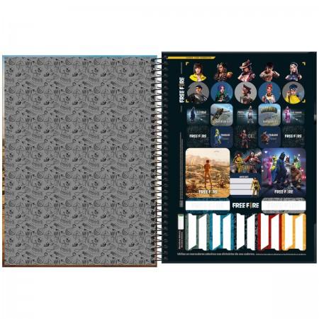 Caderno Espiral Free Fire Universitário 10 Matérias