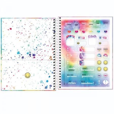 Caderno Espiral Good Vibes Tilibra Colegial 1 Matéria