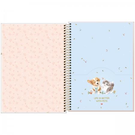 Caderno Espiral Jolie Pet Tilibra Universitário 10 Matérias