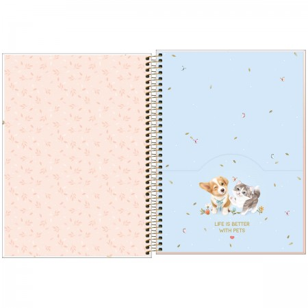 Caderno Espiral Jolie Pet Tilibra Universitário 1 Matéria