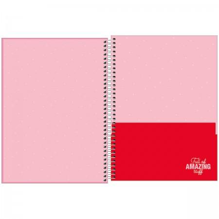 Caderno Espiral Love Pink Tilibra Universitário 12 Matérias