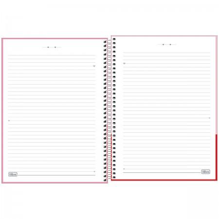 Caderno Espiral Love Pink Tilibra Universitário 16 Matérias