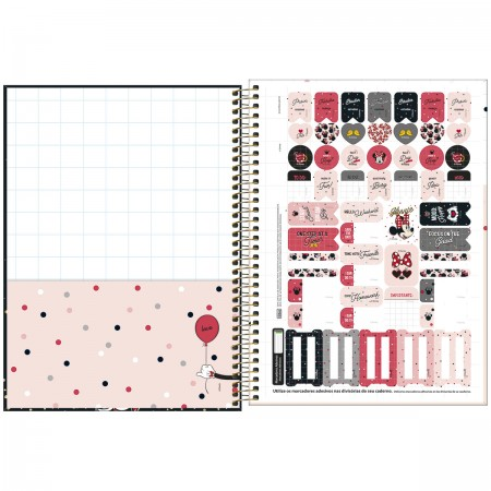 Caderno Espiral Mickey Tilibra Universitário 10 Matérias