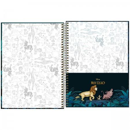 Caderno Espiral Rei Leão Tilibra Universitário 10 Matérias