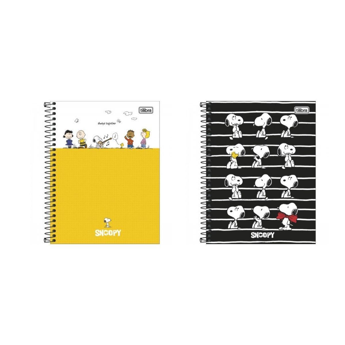 Caderno Espiral Snoopy Tilibra Colegial 1 Matéria