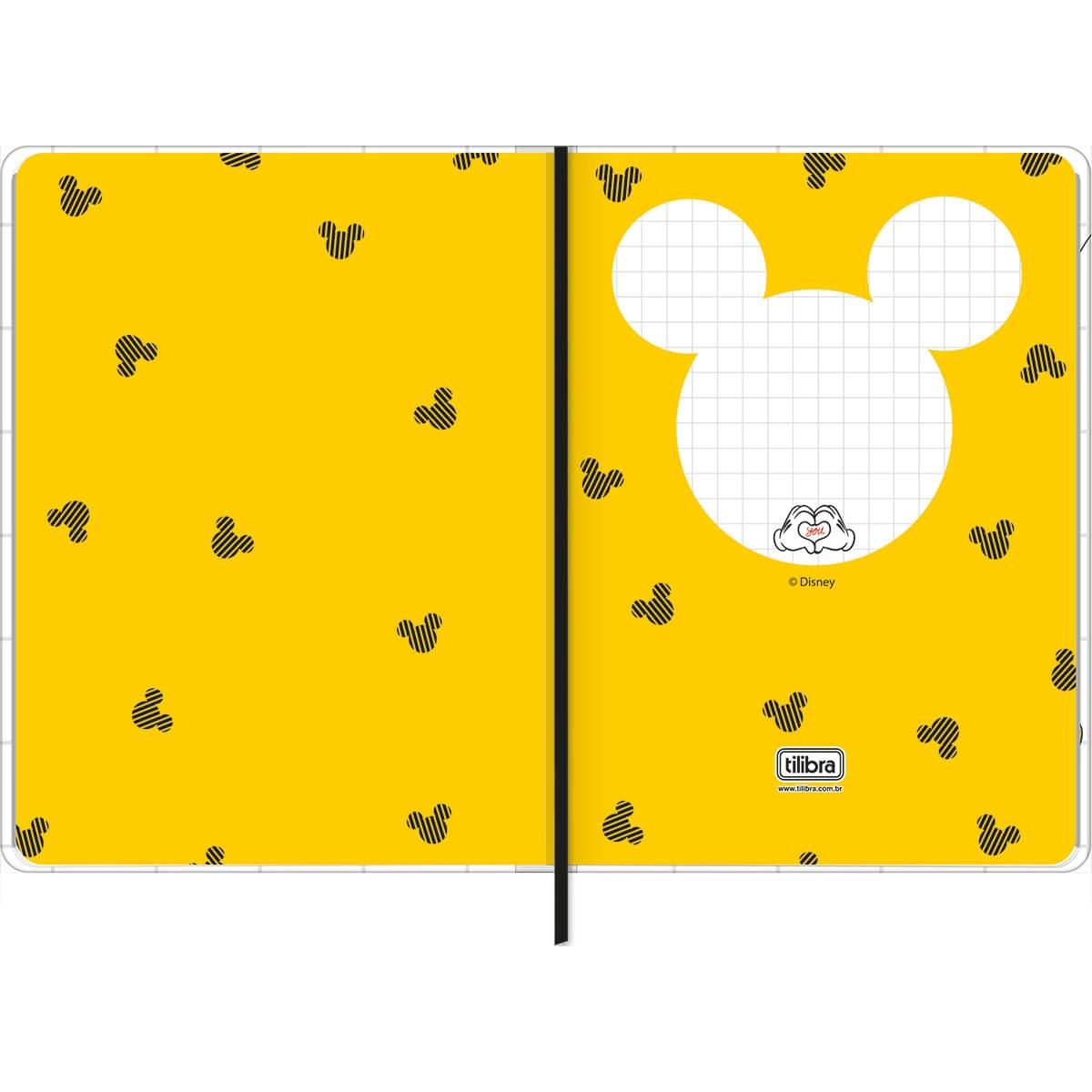 Caderno sem Pauta Mickey A5 c/ Fitto Tilibra 80 Folhas