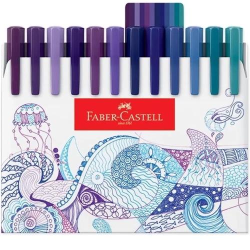 Caneta Faber Castell Fine Pen Colors 0.4mm c/ 48 cores