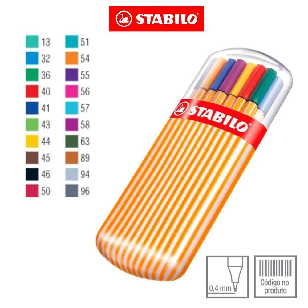 Caneta Stabilo Point 88 Zebrui c/ 20 cores 8820-02